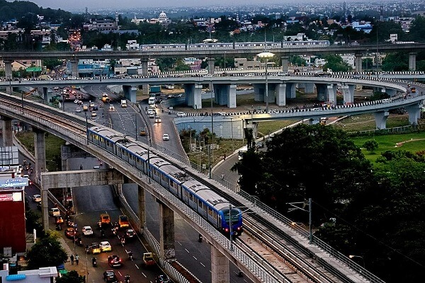 Chennai Metro invited bids for construction of two elevated sections of Corridor 3 & 5