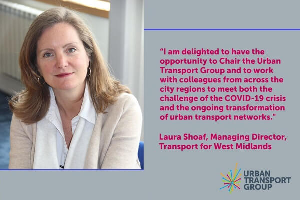 Laura Shoaf appointed as new Chair of Urban Transport Group