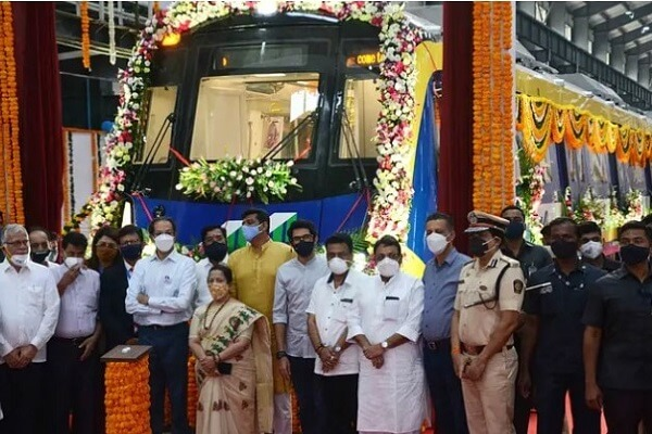MMRDA unveils first metro trainset for Mumbai Metro's Line 2A and 7