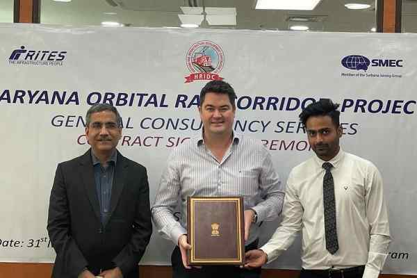 RITES-SMEC JV signs General Consultancy contract for Haryana Orbit Rail Corridor