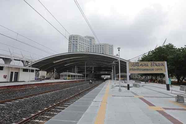 India's newly developed Gandhinagar Railway Station dedicated to the nation