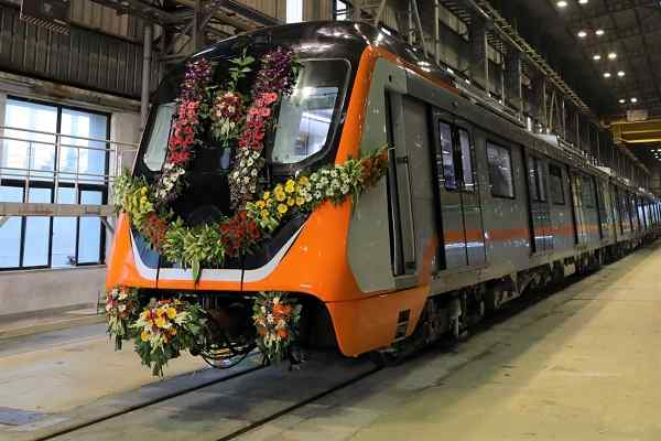 Alstom rolled out first train set for Kanpur Metro Rail project