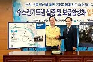 Ulsan and Hyundai Rotem joined hands for Hydrogen Powered LRV in Korea