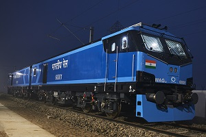 First WAG12B Electric Locomotive begins its service in India Railways